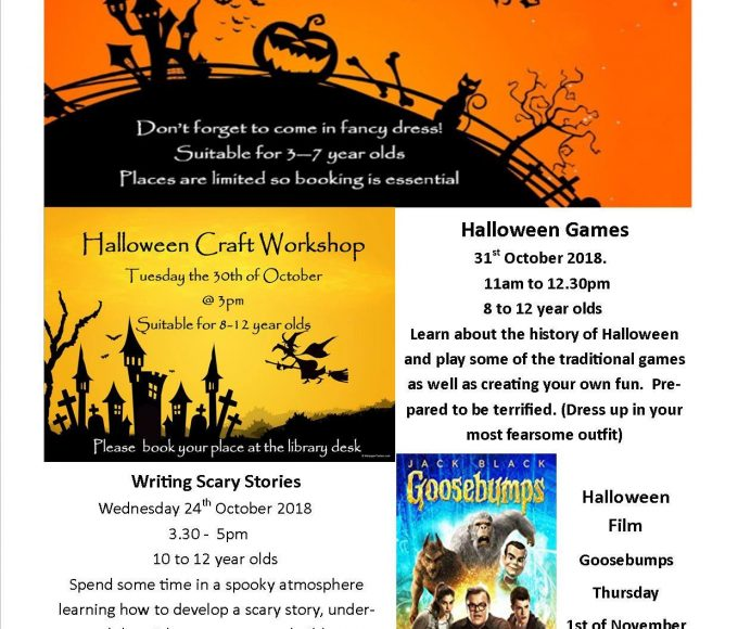 Halloween Events In Cashel Library