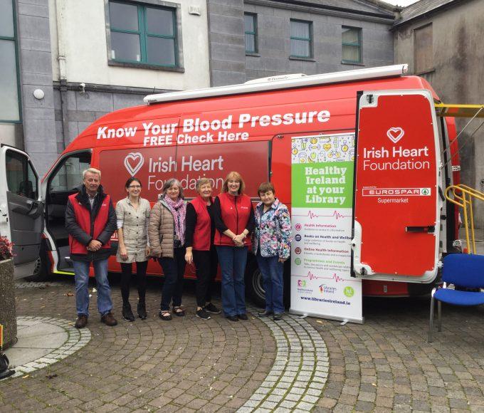 Irish Heart Foundation Mobile Health Unit Visits Cashel Library