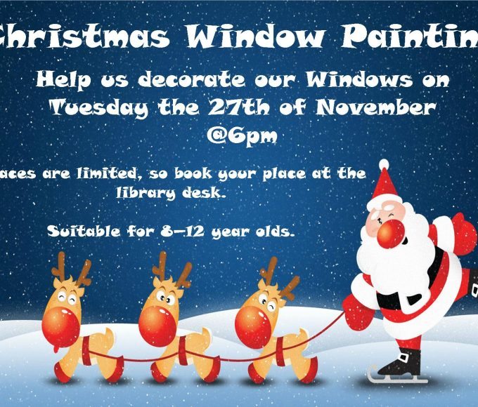 Christmas Window Painting In Cashel Library