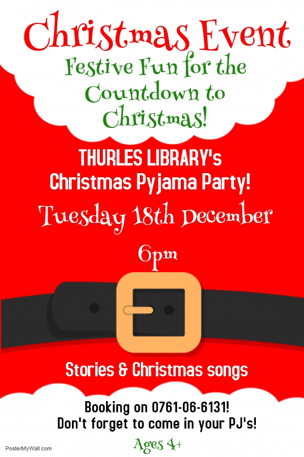 Christmas Story-time Coming To Thurles Library