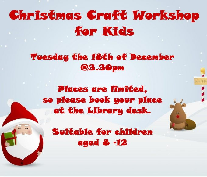 Cashel: Christmas Craft Workshop For 8-12 Year Olds