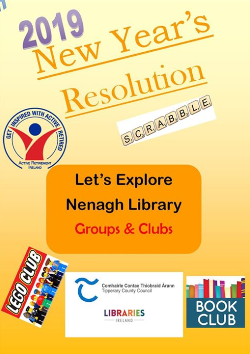 Clubs And Groups Return Dates To Nenagh Library After The Christmas Break.