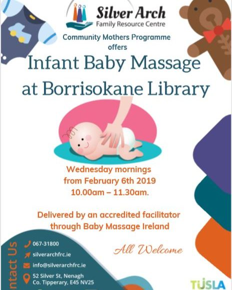 Infant Baby Massage Class, Wednesday Morning For 6 Weeks In Borrisokane Library