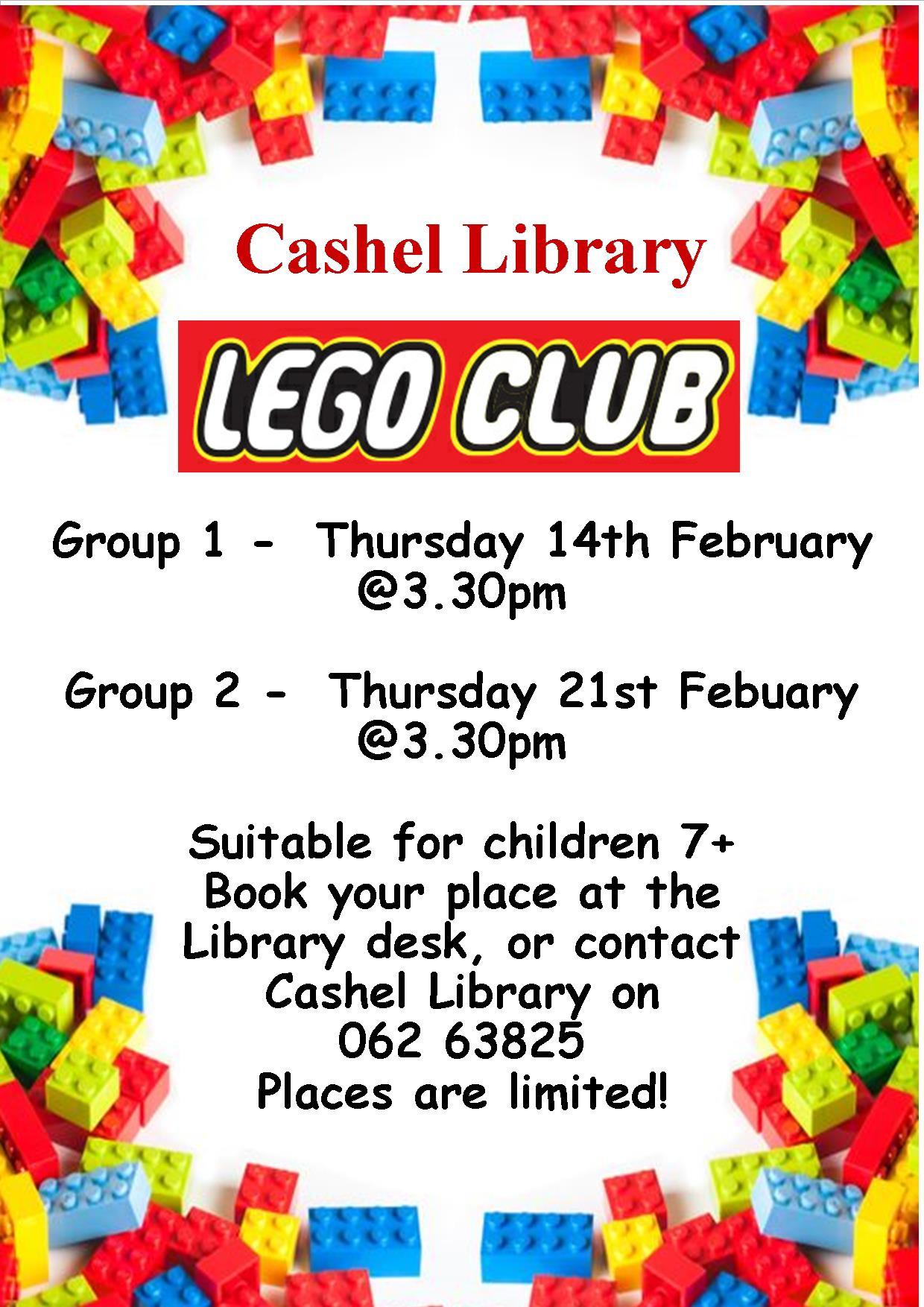 Cashel Library Lego Clubs