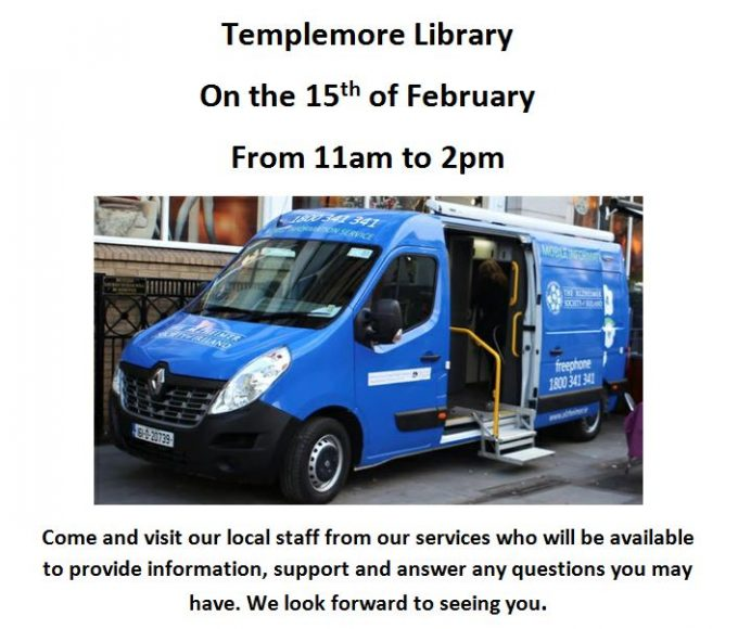 Templemore Library – Alzheimer Society Of Ireland Mobile Information Service