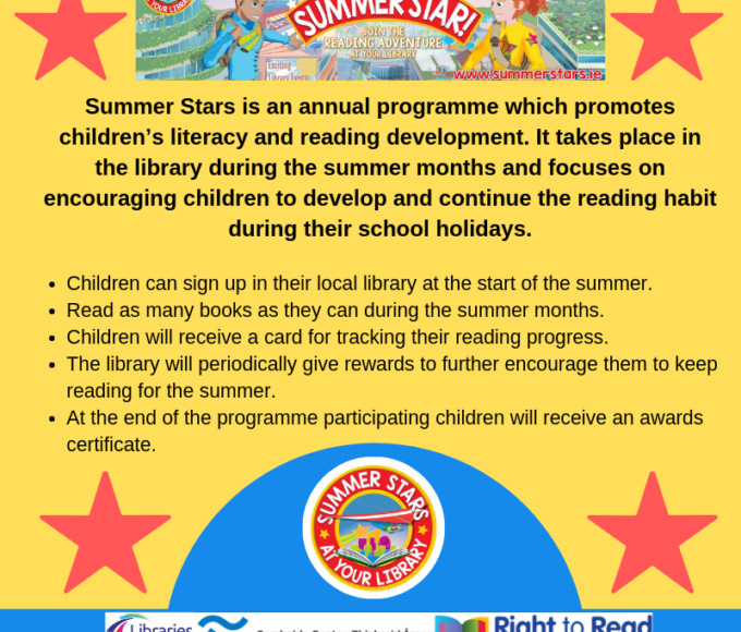 Pop Into Your Local Library This Summer To Take Part In Our Summer Stars Reading Challenge!