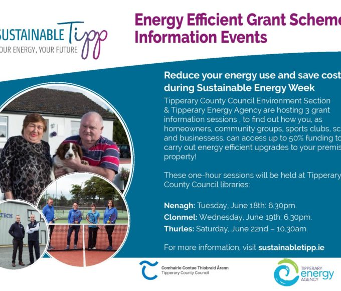 Energy Efficient Grant Scheme Information Evening: Nenagh Library June 18th At 6.30
