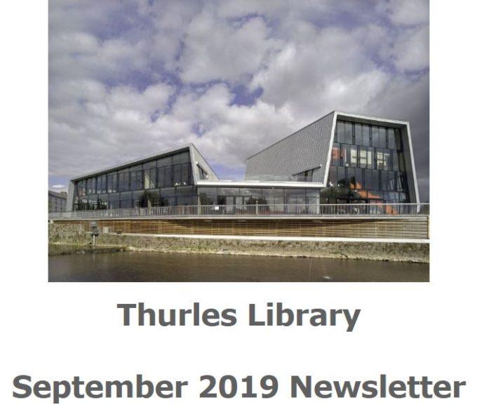 Thurles Library September 2019 Newsletter