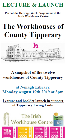 """The Workhouses Of County Tipperary"" Lecture & Book Launch: Nenagh Library"