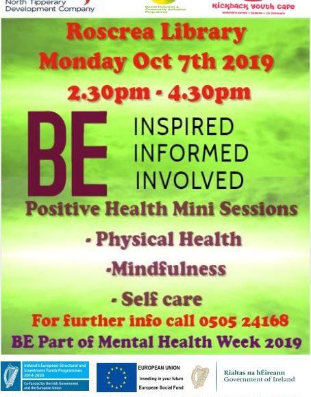 Positive Health Mini Session In Roscrea Library