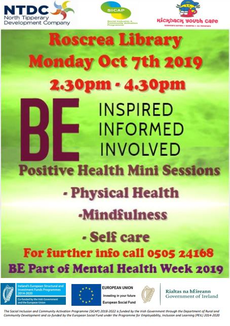 Positive Health Mini Session In Roscrea Library
