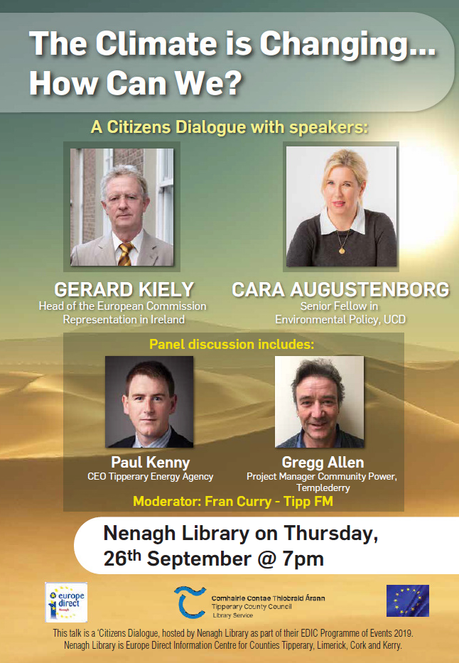 """The Climate Is Changing – How Can We?"": Citizens Dialogue In Nenagh Library"