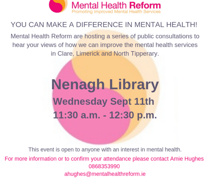 Mental Health Reform Public Consultation: Nenagh Library