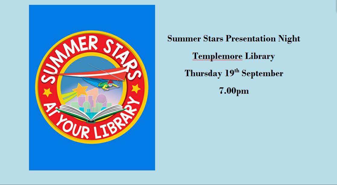 Summer Stars Presentation Night In Templemore Library