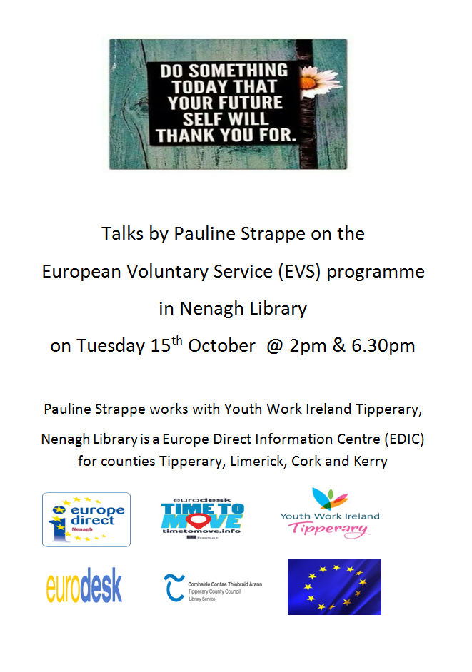 Talks By Pauline Strappe On The European Voluntary Service (EVS) Programme: Nenagh Library