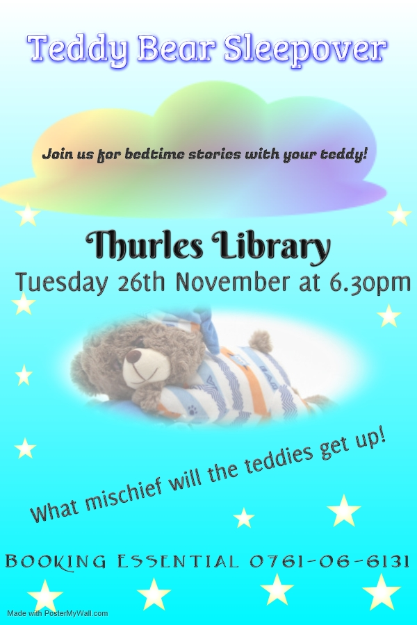 Teddy Bear Sleepover Is Coming To Thurles Library!