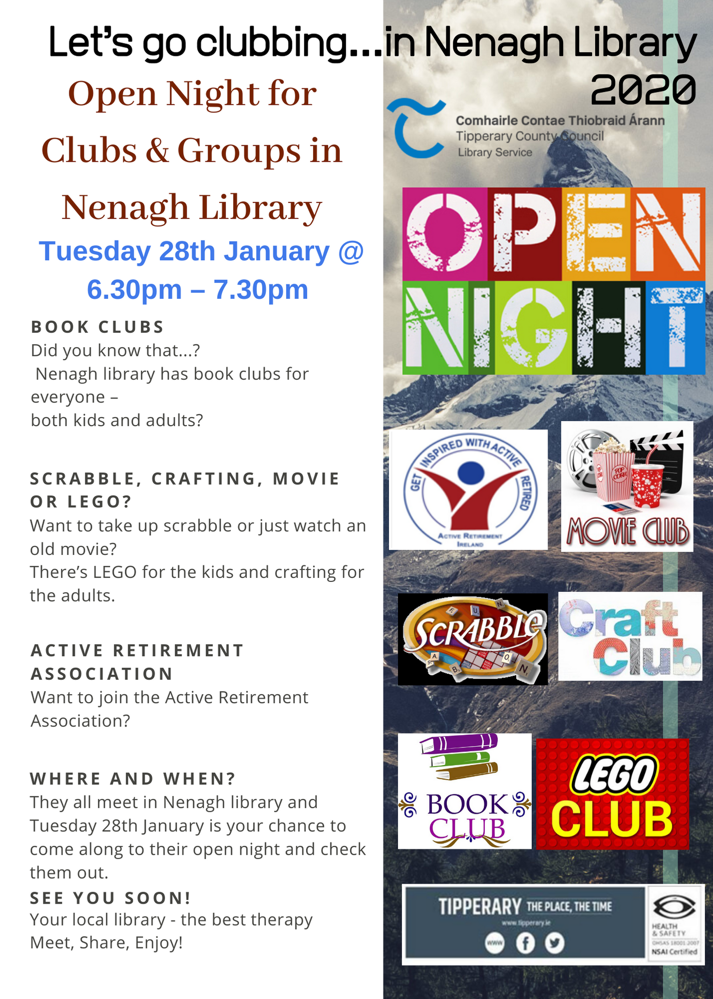 Lets Go Clubbing In Nenagh Library