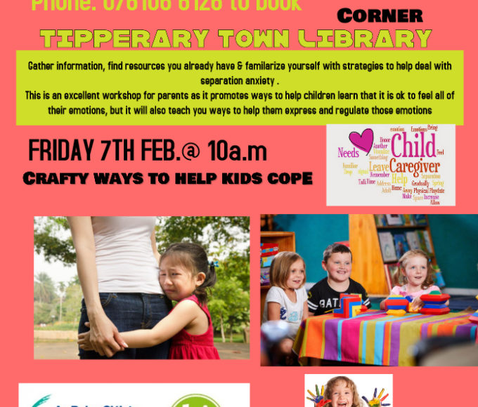 Tipperary Town: Separation Anxiety Workshop By Jude Dillon IAPTP Accredited Play Therapist