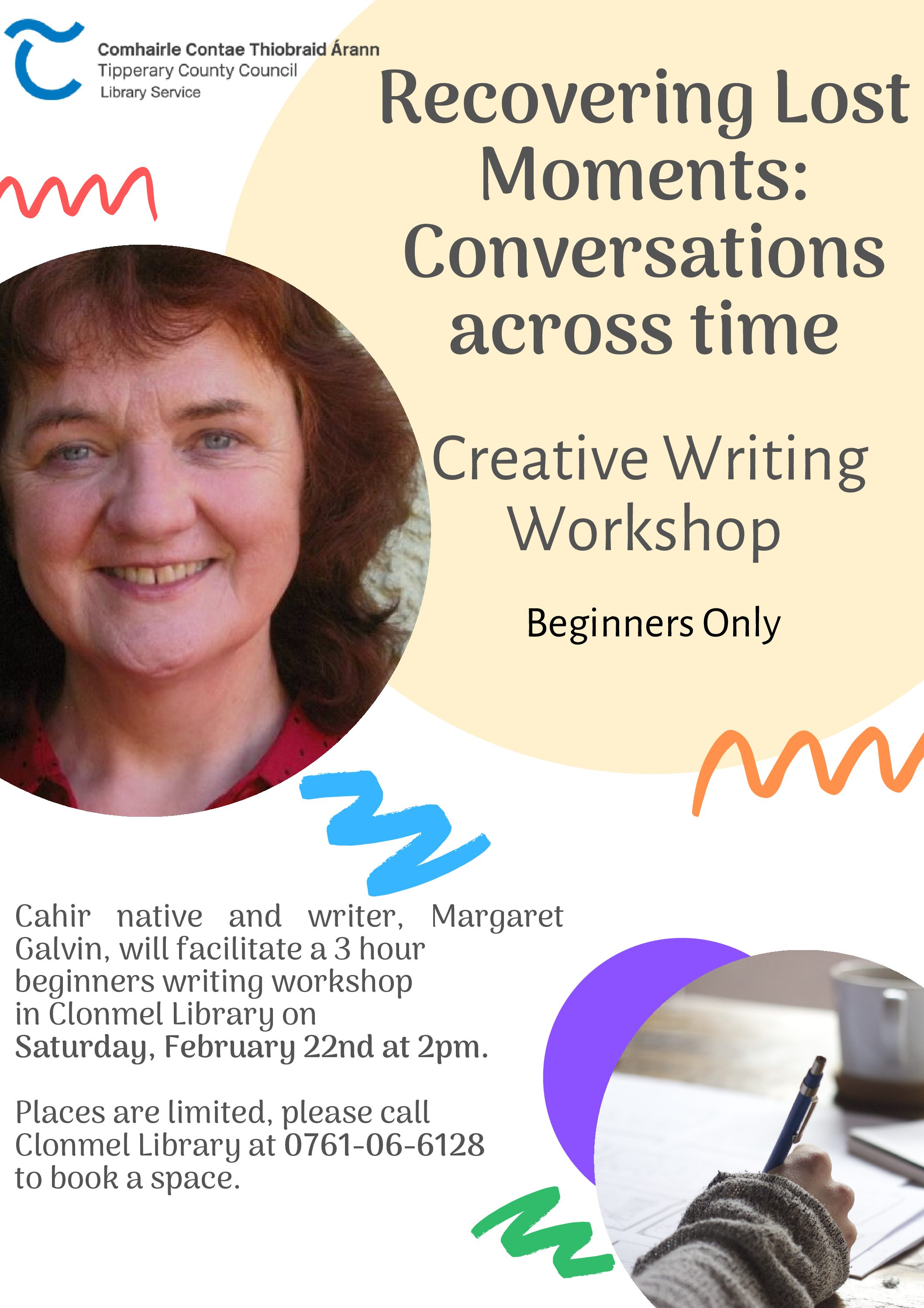 Clonmel Library: Creative Writing With Margaret Galvin