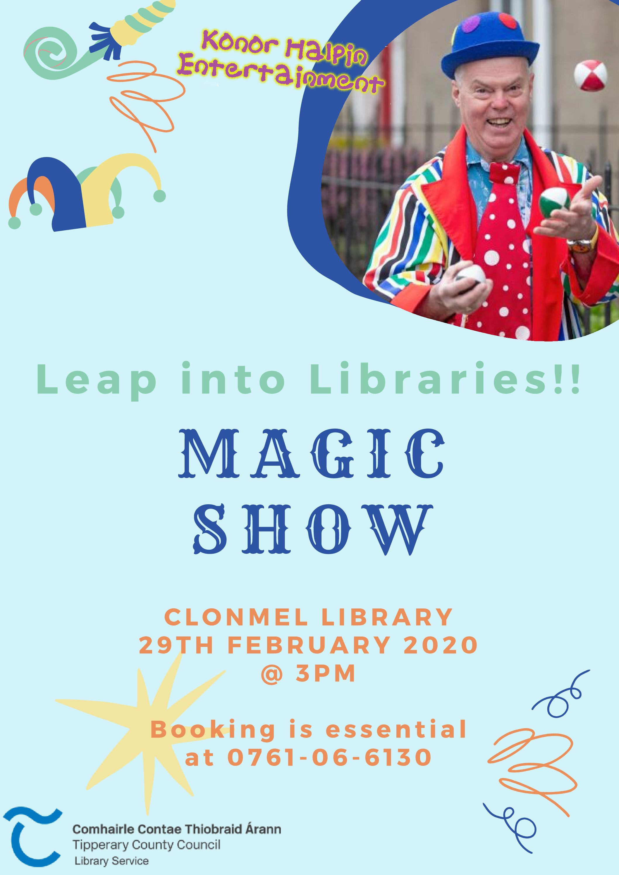 Clonmel Library: Magic Show (Leap Into Libraries Event)