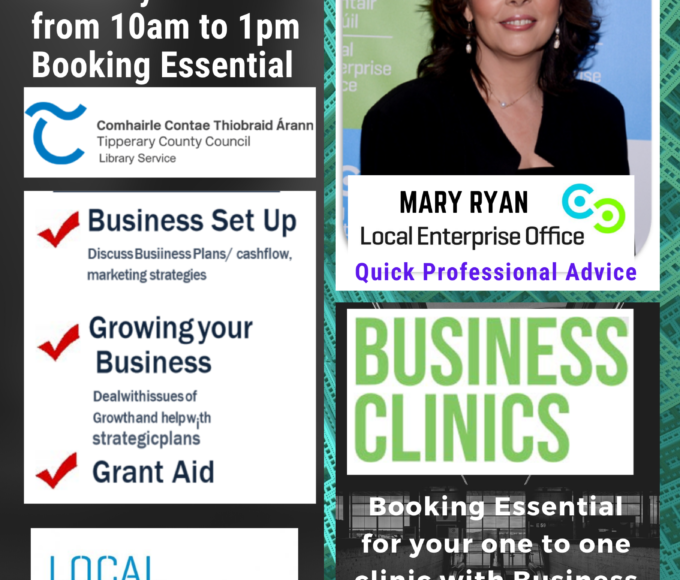 Nenagh Library: One-One Business Advice Clinics