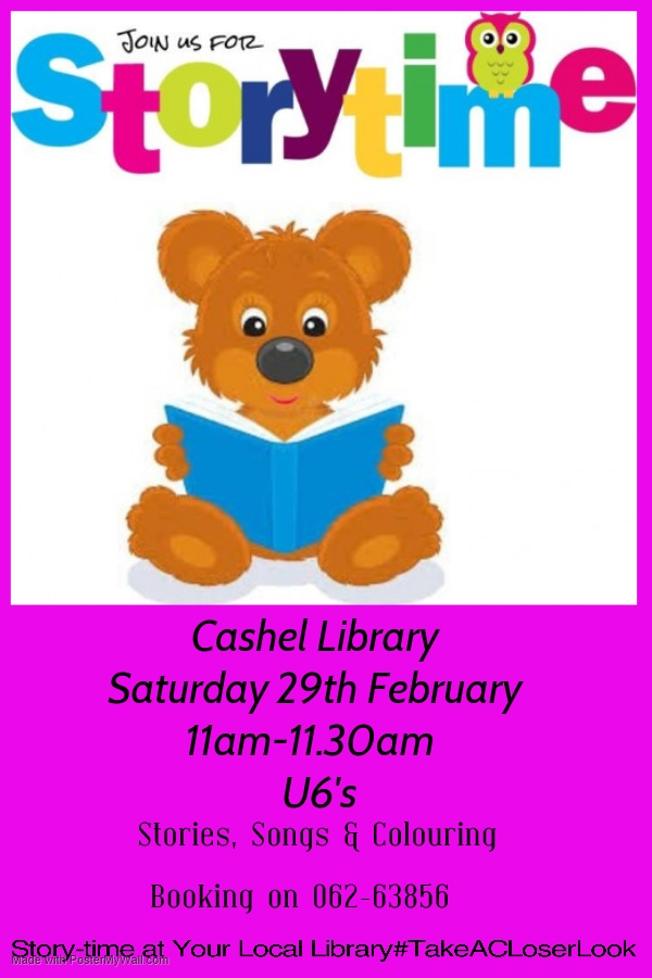 Story-time Saturday 29th February