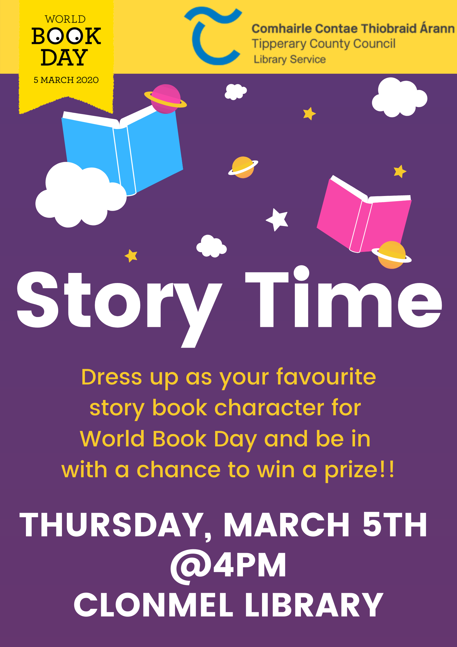 Clonmel Library: World Book Day