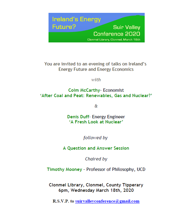 Clonmel Library: Suir Valley Conference 2020