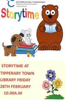 Tipperary Town Library.Storytime 5yrs And Under. #TakeACloserLook