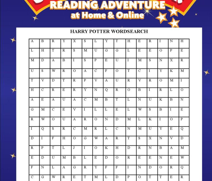Thurles Library's Harry Potter Wordsearch