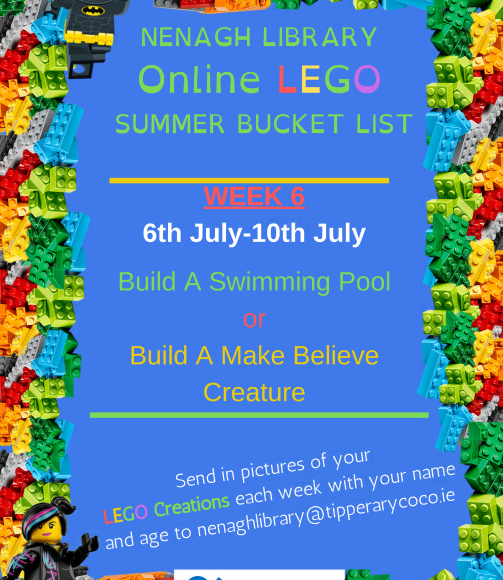 Nenagh Library Online LEGO Summer Bucket List: Week 6 (6th July-10th July)