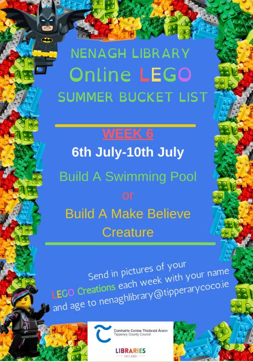 Nenagh Library Online LEGO Summer Bucket List: Week 6 (6th July-10th July)