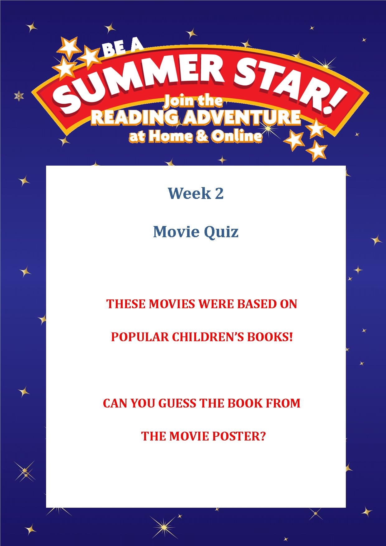 Thurles Library's Summer Stars Quiz – Week 2
