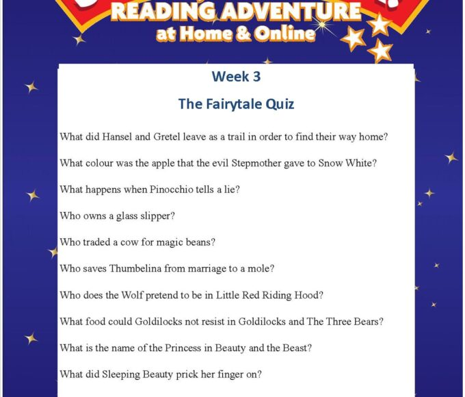 Thurles Library's Summer Stars Quiz – Week 3