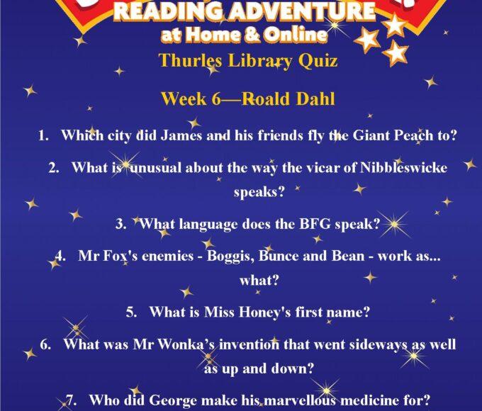 Thurles Library's Summer Stars Quiz – Week 6