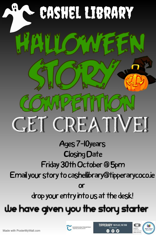 Cashel Library Halloween Creative Writing Competition For 7-10yrs