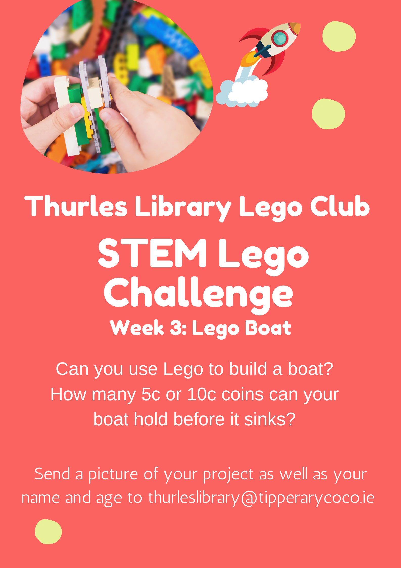 Thurles Library's Lego STEM Challenge – Week 3